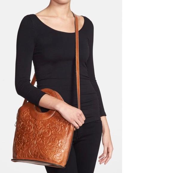Patricia Nash Leather Moretto Tooled Crossbody Bag